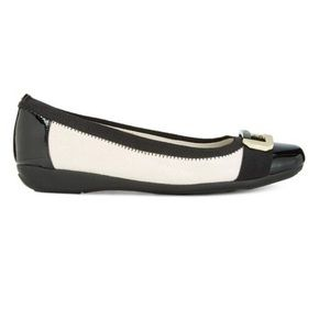 Anne Klein Uplift Fabric Square Toe Ballet Flats